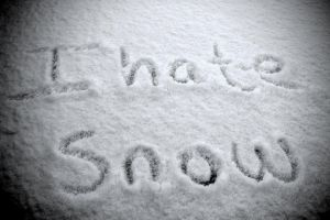 I HATE Snow by ophilialove