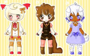 Dessert Kenomimi Adoptable Auction [CLOSED] by lifeforce10