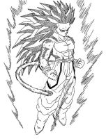 Sangoku SSJ4 Ascended 2 God by Cheetah-King