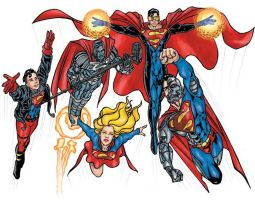 Superman group by TheComicFan