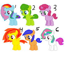 MLP Adoptables 5 points each by Puppies567