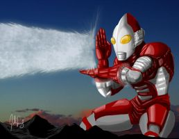 Ultraman Classic Pose by manguy12345