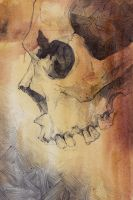 Skull Watercolor 2 by SketchbookNoir