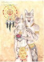 Aztec Coyotes by m-lupus