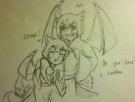 Lucifer and Silver by AbominalSnowDemon