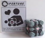 Weighted Companion Cube Amigurumi by MiaHandcrafter