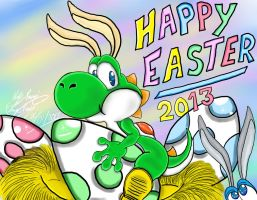 Easter Yoshi 2013 by TheriaRose