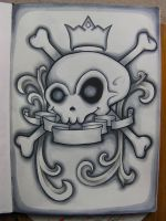 Grey Skull Crest by Evilrj