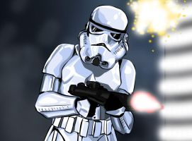 Stormtrooper in Combat by Content-Josho