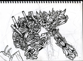 Prime vs Megs unfinished by Berty-J-A