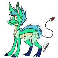 AUCTION - Fluffy Dragon adopt [OPEN] by P0ry-Adopts