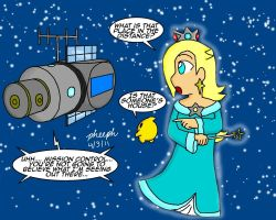 Rosalina and the Space Station by pheeph
