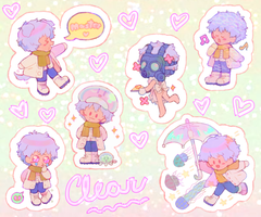 Clear Sticker Sheet by Kimqi