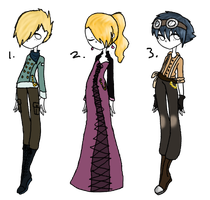 Steampunk outfits(open) by AerithsAdopts