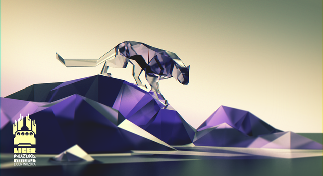Low Poly Panther - The Burned by Liger-Inuzuka