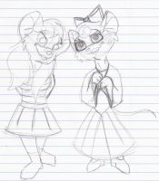 GMD WIP: Sal And Kitty by MouseAvenger