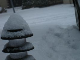 Snow on Outdoor Light by demboys18