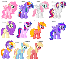 [1 LEFT] Shipping adopts pack 1 by SweetieBelle24