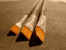 My Paintbrushes by SirenSeaQueen