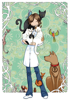 Commission - Veterinarian by NineInjections