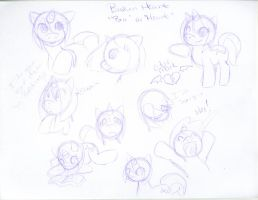 MLP:FIM sketches2 .::Broken Heart::. by SakiCakes