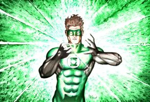Green Lantern Mixed Media by ChrisMcJunkin