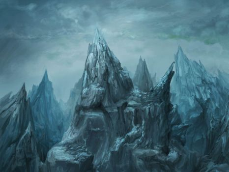 Dark mountain - game background 4 by Ranivius