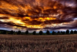 burned sky by stg123