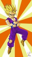 Dragon Ball - Gohan 27 (Gohan SJ2 Gangnam Style 2) by songohanart