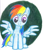 Rainbow Dash in crayon by FailDuck