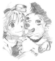 ed and ein by anime529