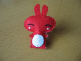 Tiny bunny plushie by KStipetic