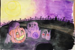 7 Days Color Challenge Day 6 -Purple Cemetery Hill by Narmita08