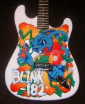 blink 182 guitar 2 finished by magaggie
