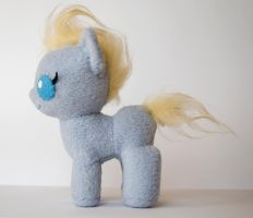 MLP Custom Plushie: Un-named Baby Pony Side View by ivy-cinder