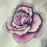 Watercolour flower by smonters