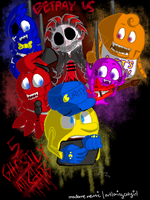Five Ghostly Nights [PMatGA|FNaF CROSSOVER AU] by ArtLovingCatGirl