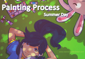 Drawing Process - Summer Day by Noxmoony