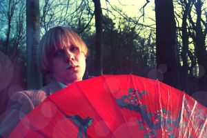 Red Umbrella by ruby-misted-eyes