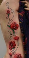 rose tribal tattoo by Remistattoo