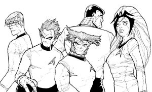 X-Men Starfleet by r-i-p-p-l-e