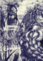 RED DRAGON'S KING cocoons by sauronthegreateye