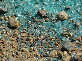 Green Broken Glass by Ohgodgeese