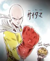 18 Saitaaaa and Genos by AkariMarco