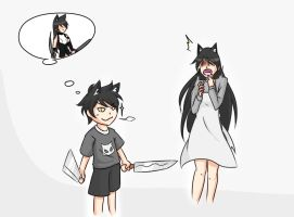 [RWBY Mama] Blake [Imitating someone...] by KatsuragiRyuu