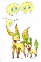 Bachurus y leafeons by Angela-arc
