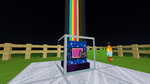 Nyan Cat inspired Minecraft Beacon Texture by plaidsandstripes