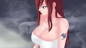 Erza Boobs by WendyTsq