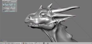Hi-Poly 3D Dragon head --WIP-- by Takato14