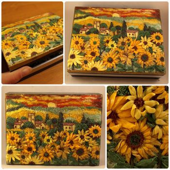 Polymer clay painting/A farewell to summer by Ladybird18